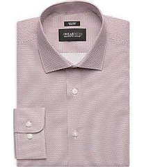 awearness kenneth cole burgundy pattern slim fit dress shirt