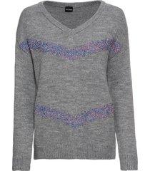 maglione con fasce glitterate (grigio) - bodyflirt