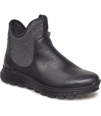 exostrike w shoes boots ankle boots ankle boots flat heel svart ecco