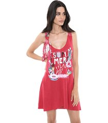 vestido my favorite thing(s) curto tricot estampado rosa - kanui