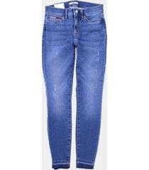 jeans th leggings bordado rodeo azul tommy hilfiger
