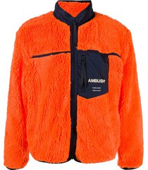 ambush zip-up fleece sweatshirt - orange