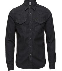 lee western shirt pitch black overhemd casual zwart lee jeans