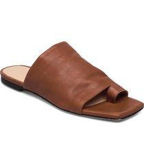 natalia shoes summer shoes flat sandals brun notabene