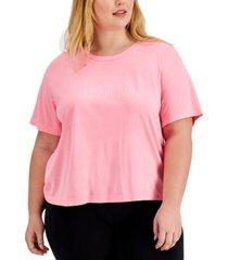 jenni plus size boyfriend pajama t-shirt, created for macy's