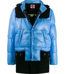 bark b rules padded coat - blue