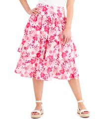 inc tiered printed skirt, created for macy's
