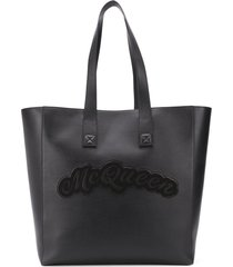 alexander mcqueen oversized rock tote bag - black