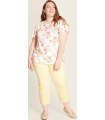 camiseta estampado floral blanco 22
