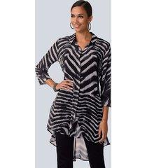 blouse alba moda grijs::zwart