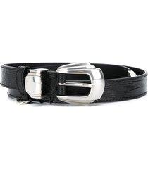 kate cate art deco buckle belt - black
