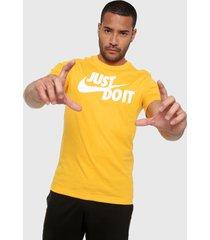 camiseta amarillo-blanco nike tee just do it swoosh university