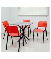 conjunto cozinha sevilha 0,75 com granito c/4 cadeiras isomix preto