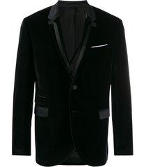 neil barrett blazer de veludo - preto