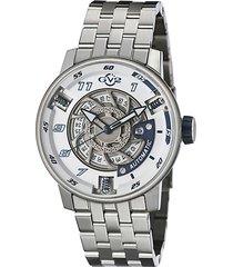 motorcycle sport stainless steel bracelet watch