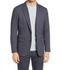 men's bonobos slim fit houndstooth sport coat, size 44 regular - grey