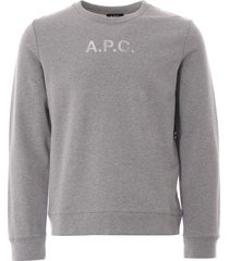 a.p.c stamp sweatshirt | grey | h27580-pla