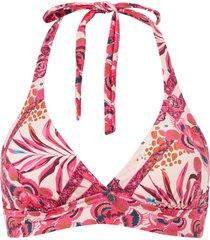 bikini-bh saftey halter top printed