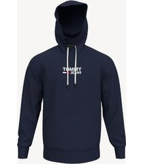 tommy hilfiger men's classic tommy jeans hoodie blue - s
