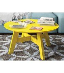 mesa de centro bay amarelo - líder design