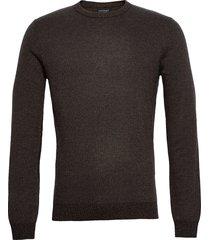 bs ernest stickad tröja m. rund krage brun bruun & stengade