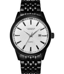 reloj curren 8052 hombres lujo casual cuarzo negro blanco