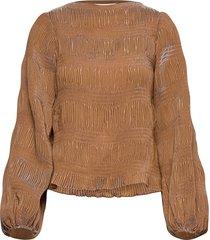 maisieiw blouse blouse lange mouwen beige inwear