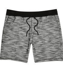 river island mens grey slim textured shorts