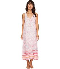 lauren ralph lauren border-print cotton maxi nightgown (md (us 8-10), paisley)