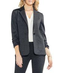 women's vince camuto ruched sleeve ponte blazer, size medium - grey