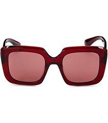 franca 52mm square sunglasses