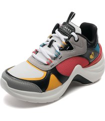 tenis lifestyle multicolor skechers groovy sole