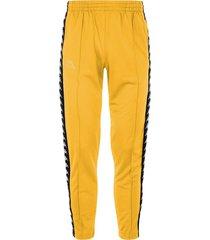 pantalón kappa astoria - amarillo mostaza/negro
