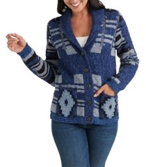 lucky brand printed cardigan sweater