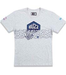 t-shirt new era regular charlotte hornets mescla off white - tricae