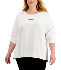 calvin klein plus size logo sweatshirt