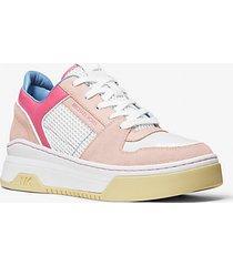 mk sneaker lexi in materiale misto - rosa tenue cangiante (rosa) - michael kors
