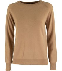 max mara cinzia crew neck sweater in wool and cashmere yarn