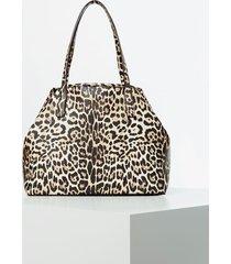 torba typu shopper w zwierzęcy print model vikky