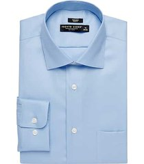 pronto uomo men's light blue slim fit queen's oxford dress shirt - size: 22 38/39 - only available at men's wearhouse