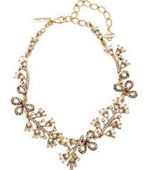 floral baguette necklace