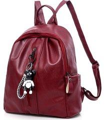 mochila casual mujeres- de hombro del hombro de las-rojo