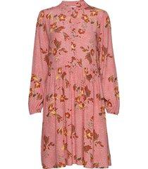 jennasz paisley woven dress animal korte jurk roze saint tropez