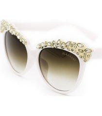 glambaby valentina cat eye sunglasses in white at nordstrom