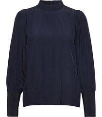 louisiw blouse blouse lange mouwen blauw inwear