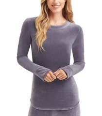 cuddl duds women's double-plush velour top