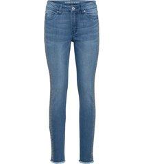 jeans skinny con strass (blu) - rainbow