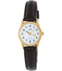 reloj casio ltp_1094q_7b5r marrón acero inoxidable