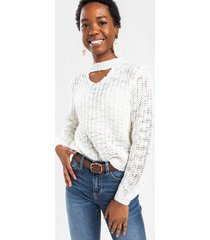 melody cut out sweater - ivory