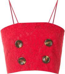 lethicia bronstein top cropped max - vermelho